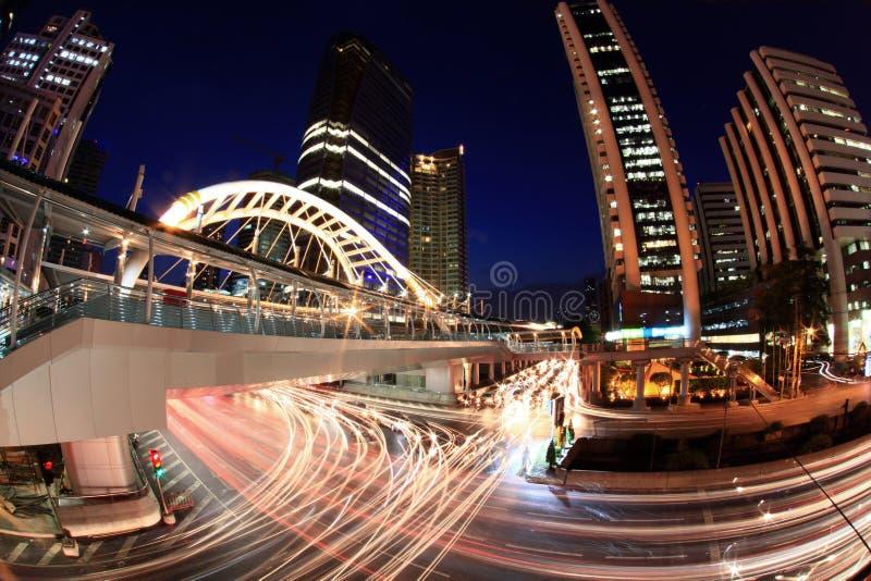 曼谷街道高峰时间 库存照片