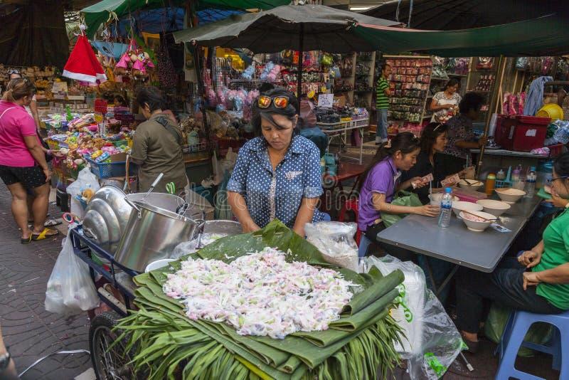 曼谷食物街道 库存照片