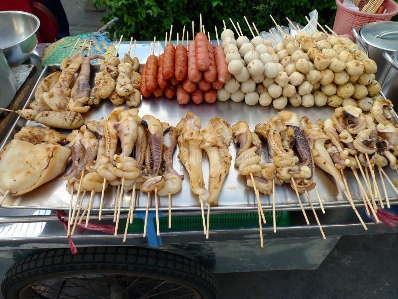 曼谷食物街道 免版税图库摄影