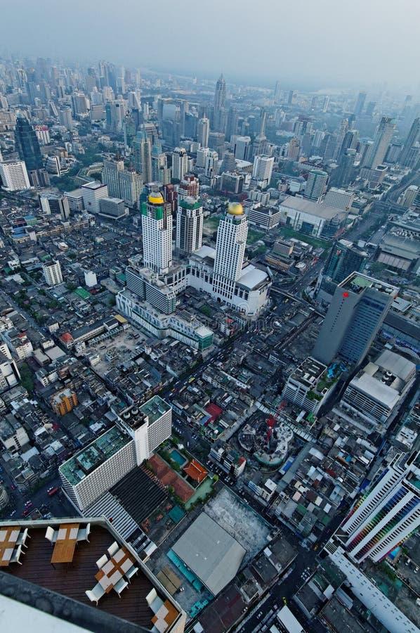 曼谷鸟瞰图 库存照片