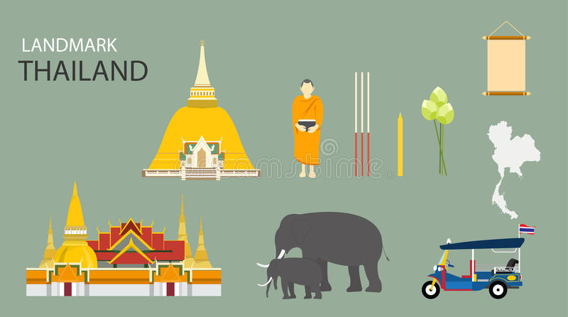 曼谷,泰国地标  库存图片