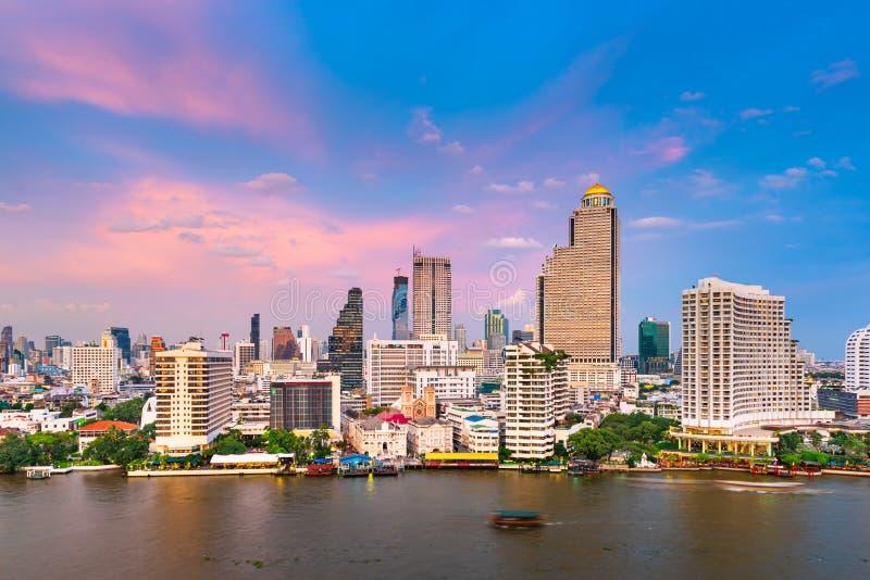 曼谷,泰国城市景观 库存照片