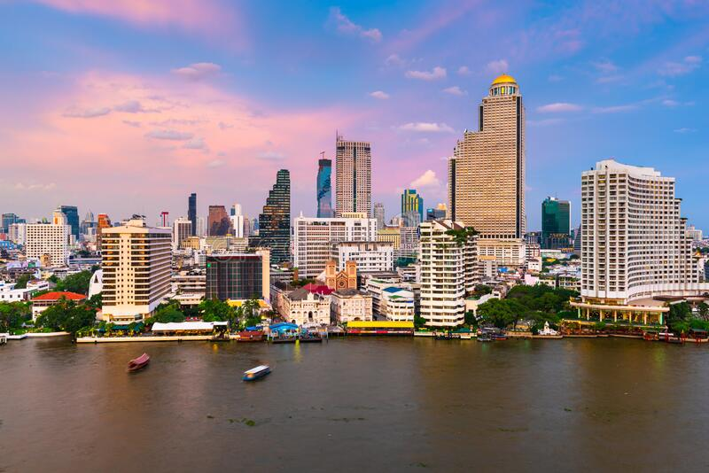 曼谷,泰国城市景观 库存图片