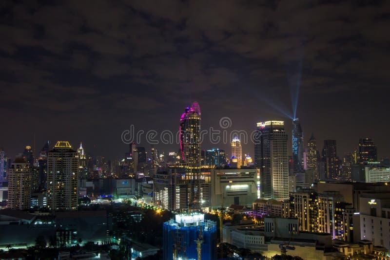 曼谷,泰国夜scape  免版税库存图片