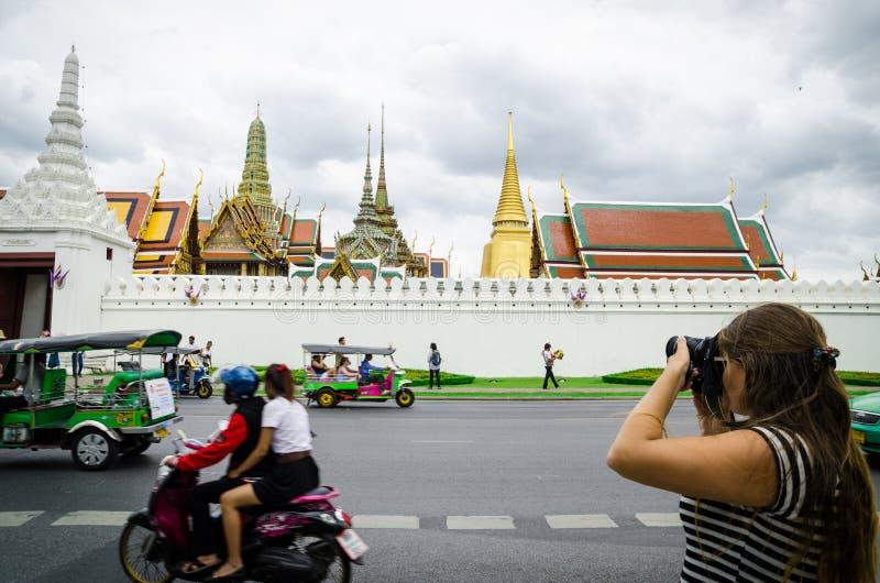 曼谷,泰国:旅游拍照片 库存图片