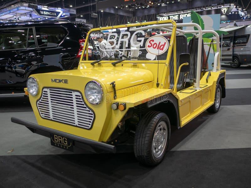 曼谷,泰国- 2018年11月30日:从BRG小组的汽车在泰国国际马达商展2018马达商展2018年11月30日 库存照片