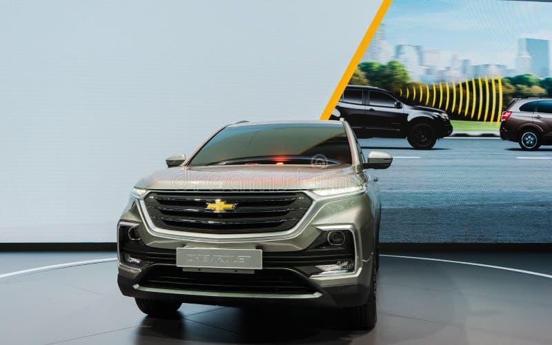 曼谷,泰国- 2019年3月31日:全新薛佛列在显示的Captiva 2019年在第40个曼谷国际汽车展示会2019年 免版税图库摄影