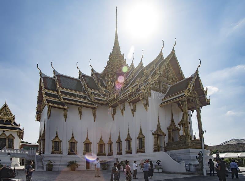 曼谷,泰国- 2018年1月2日:未知的游人attendin 免版税库存照片