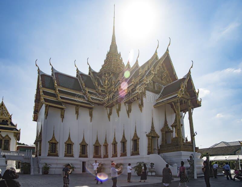曼谷,泰国- 2018年1月2日:未知的游人attendin 图库摄影