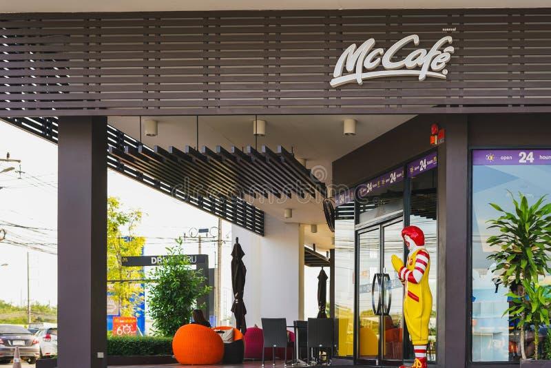 曼谷,泰国- 2017年11月19日:McCafe的罗纳德麦克唐纳 库存图片