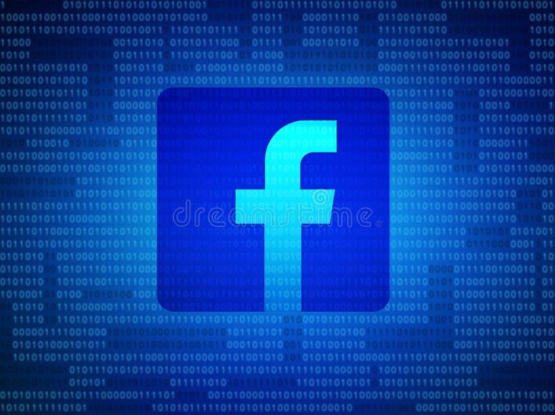 曼谷,泰国2018年5月-2 :Facebook安全和保密性 向量例证