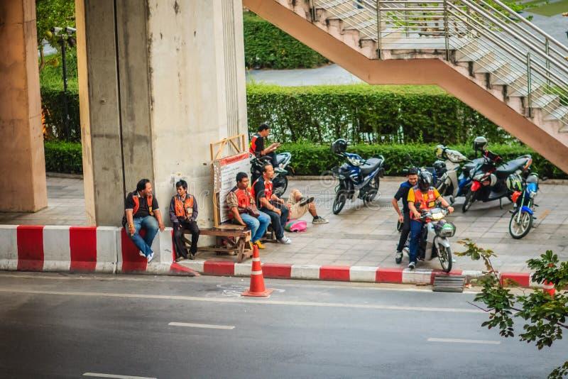 曼谷,泰国- 2017年3月8日:摩托车出租汽车曼谷, Thail 图库摄影