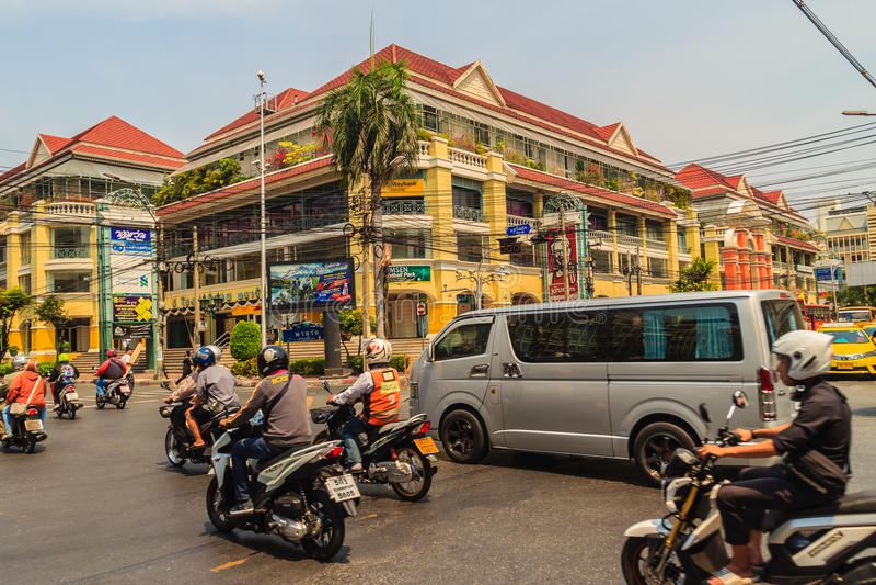 曼谷,泰国- 2017年3月2日:老泰国购物广场, 库存照片