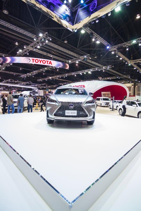 曼谷,泰国- 3月30 :凌志NX 300h在显示在2015年3月30日的第36个曼谷国际汽车展示会在没有 库存图片