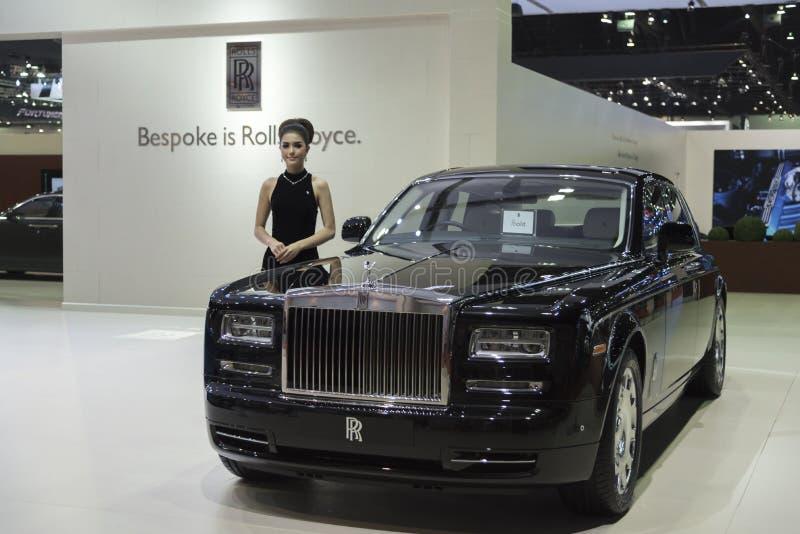 曼谷,泰国- 4月4 :新的古典汽车品牌罗斯劳艾氏 免版税库存照片
