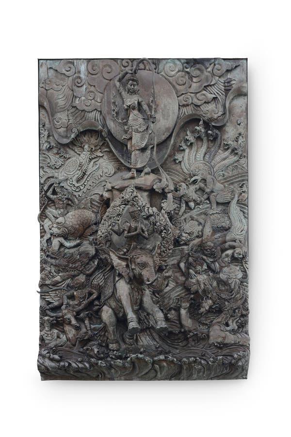 曼谷,泰国- JULY29,2018 :Phra Mae Thorani绞的头发 免版税库存图片