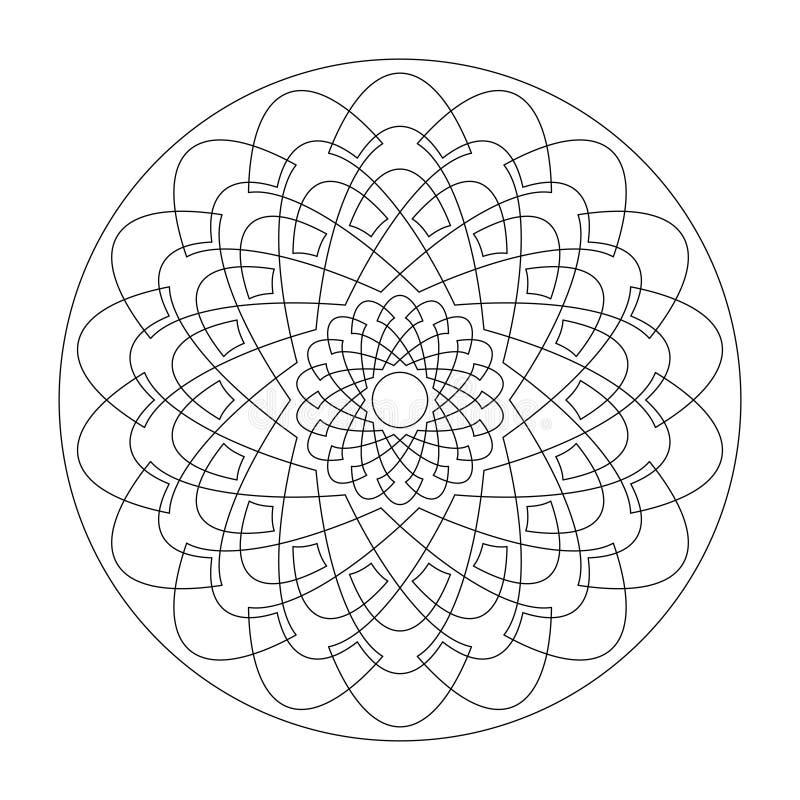 曼陀罗 玫瑰花图案 摘要 装饰元件 艺术治疗 库存图片
