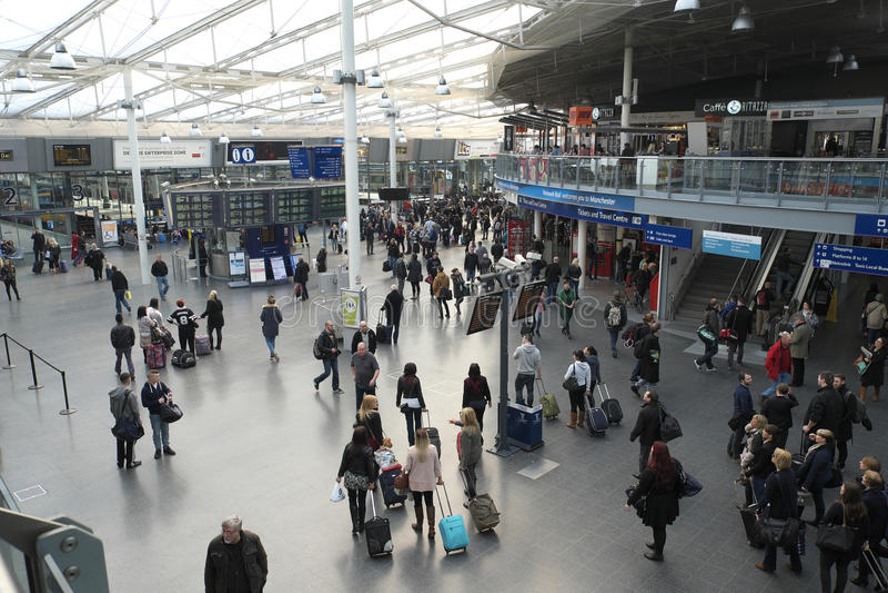 曼彻斯特卡迪里火车站 免版税库存图片