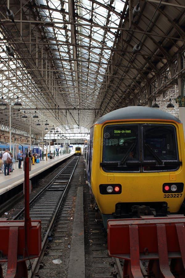 曼彻斯特卡迪里火车站 库存照片