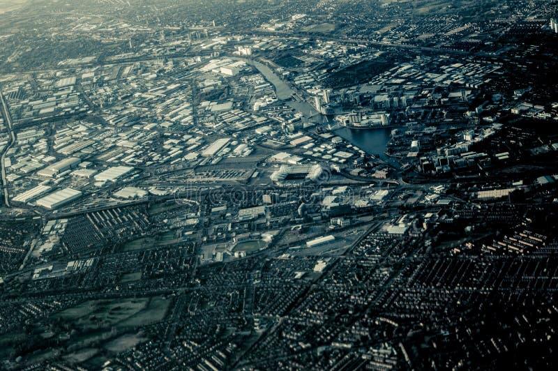 曼彻斯特天空视图  免版税图库摄影