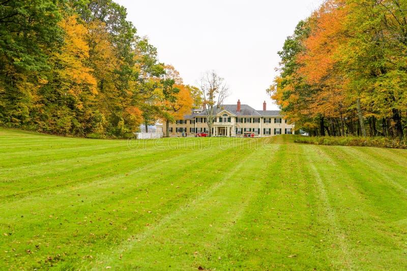 曼彻斯特,佛蒙特- 2012年11月3日:Hildene,林肯房子 库存图片