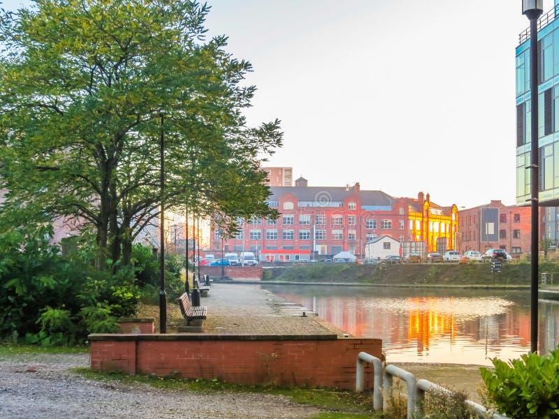 曼彻斯特,英国,英国的街道 库存图片