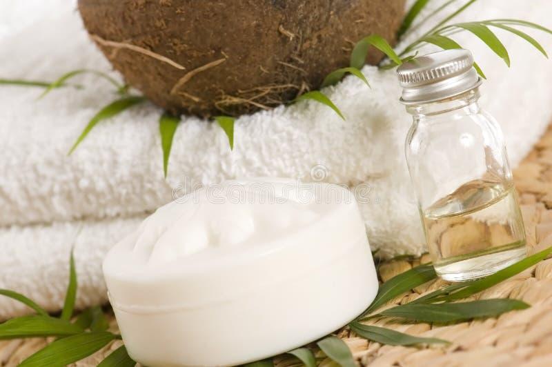 替代椰子油疗法 免版税图库摄影