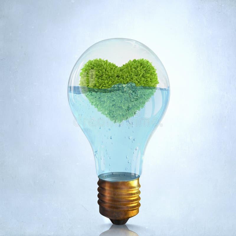 替代背景概念数字式能源例证太阳风 免版税库存照片
