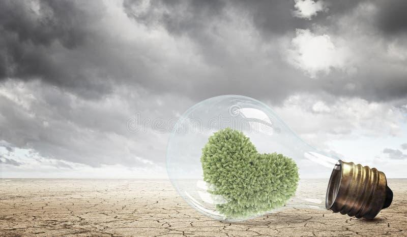替代背景概念数字式能源例证太阳风 图库摄影