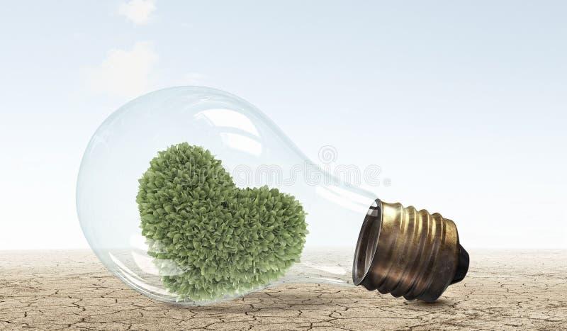 替代背景概念数字式能源例证太阳风 免版税图库摄影
