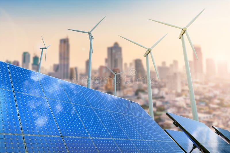 替代背景概念数字式能源例证太阳风 向量例证