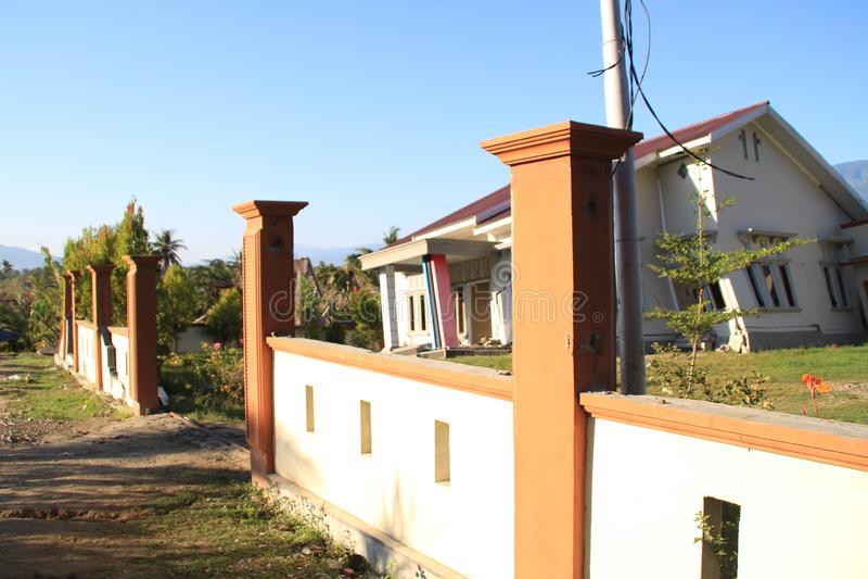 最严重的损伤在苏拉威西岛中部 免版税库存图片