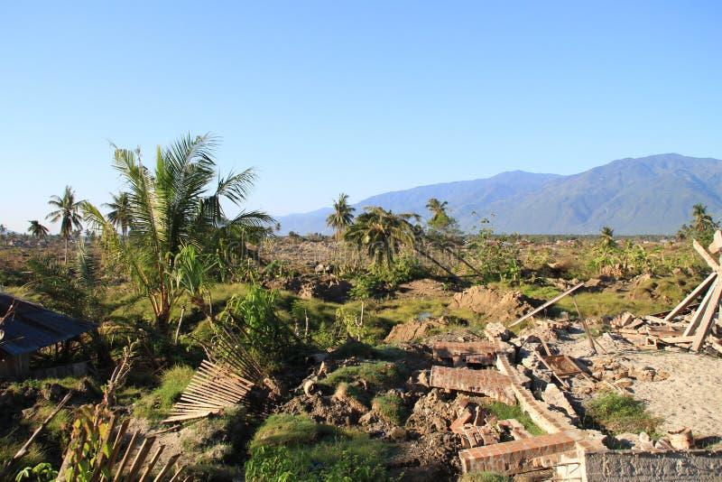 最严重的损伤在苏拉威西岛中部 免版税库存照片