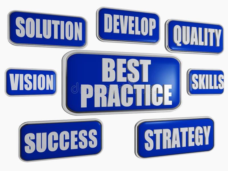 最优方法-蓝色企业概念 库存例证