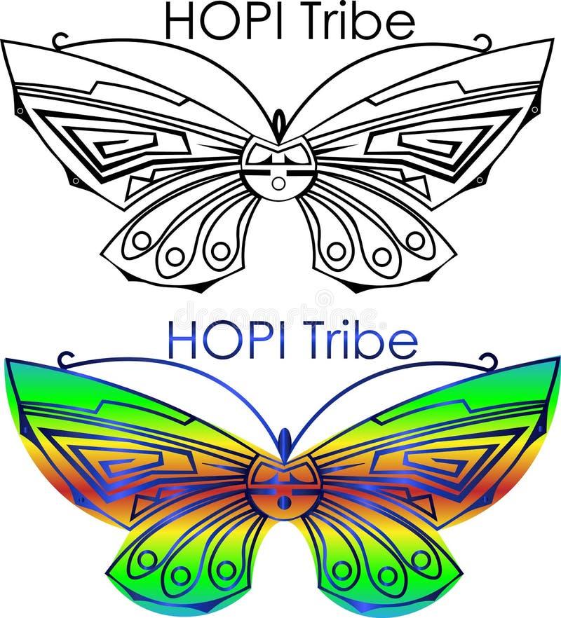 最低纲领派蝴蝶商标霍皮族部落,舞蹈商标 向量例证