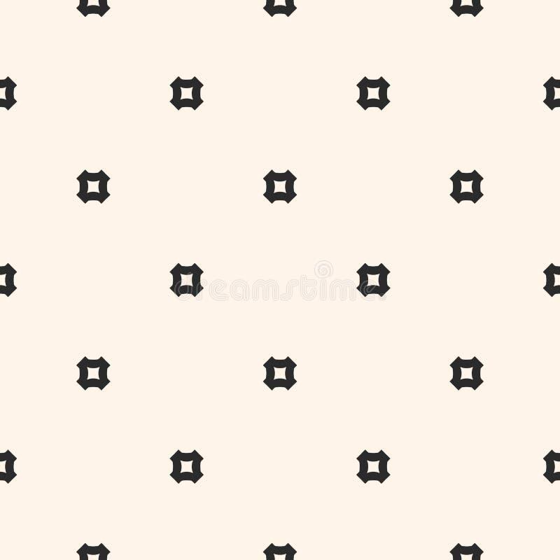 最低纲领派无缝的样式,简单的几何传染媒介纹理 皇族释放例证