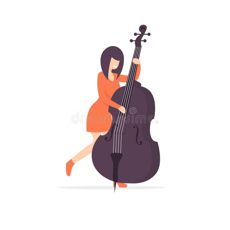 最低音妇女字符音乐家 皇族释放例证