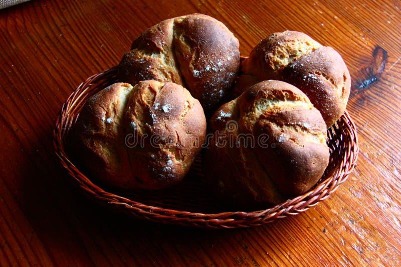 最佳新鲜的小圆面包 免版税图库摄影