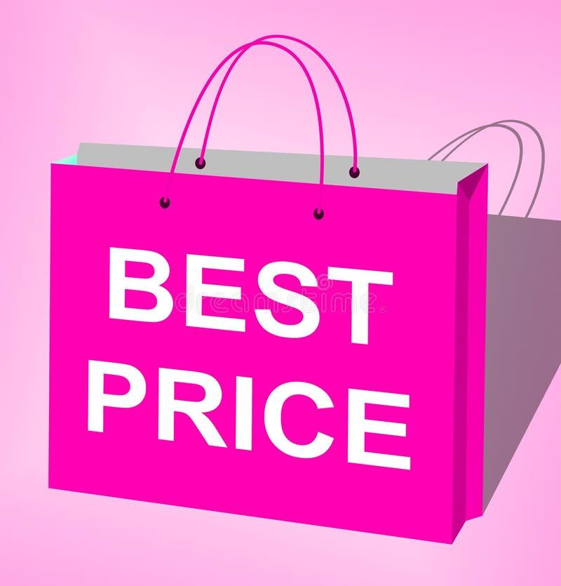 最佳的价格购物袋显示交易3d例证 皇族释放例证