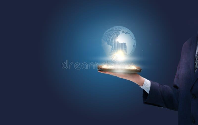 最佳的企业概念全球互联网 图库摄影