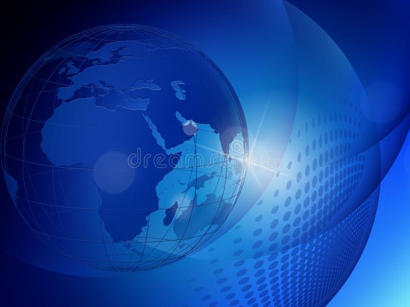 最佳的企业概念全球互联网 皇族释放例证