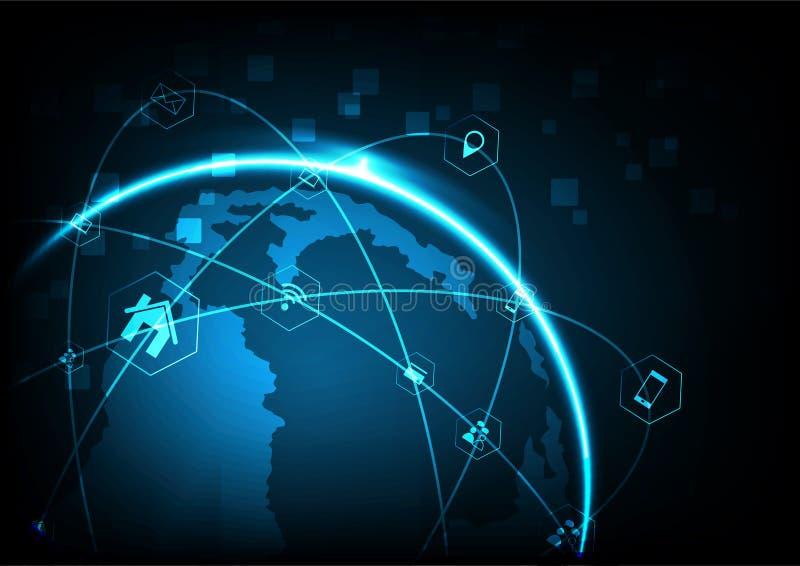 最佳的企业概念概念全球地球发光的现有量互联网系列 库存例证