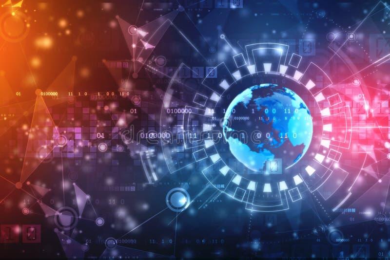 最佳的企业概念概念全球地球发光的现有量互联网系列 皇族释放例证
