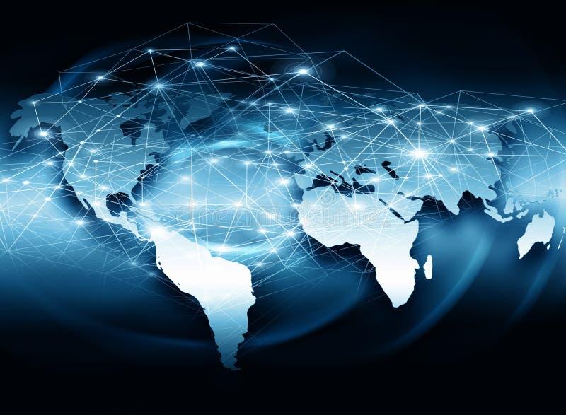 最佳的企业概念概念全球地球发光的现有量互联网系列. 地球, 蓝色.