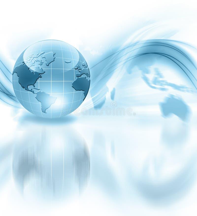 最佳的企业浓缩的概念全球互联网 皇族释放例证