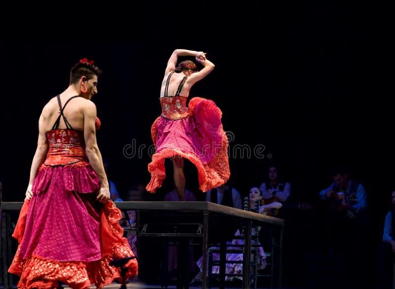 最佳的佛拉明柯舞曲舞蹈戏曲 库存照片