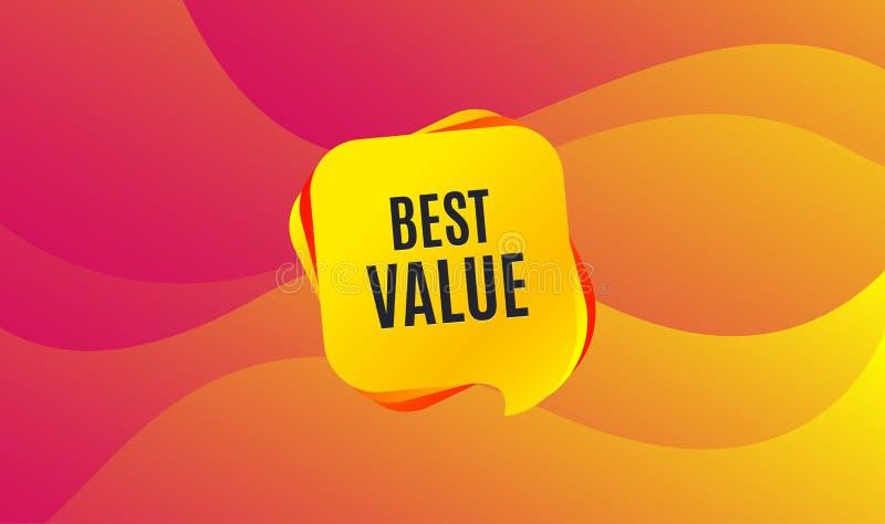最佳的值 特价优待销售标志 向量 库存例证
