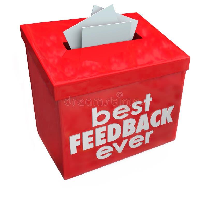 最佳的反馈意见箱想法输入评论 皇族释放例证