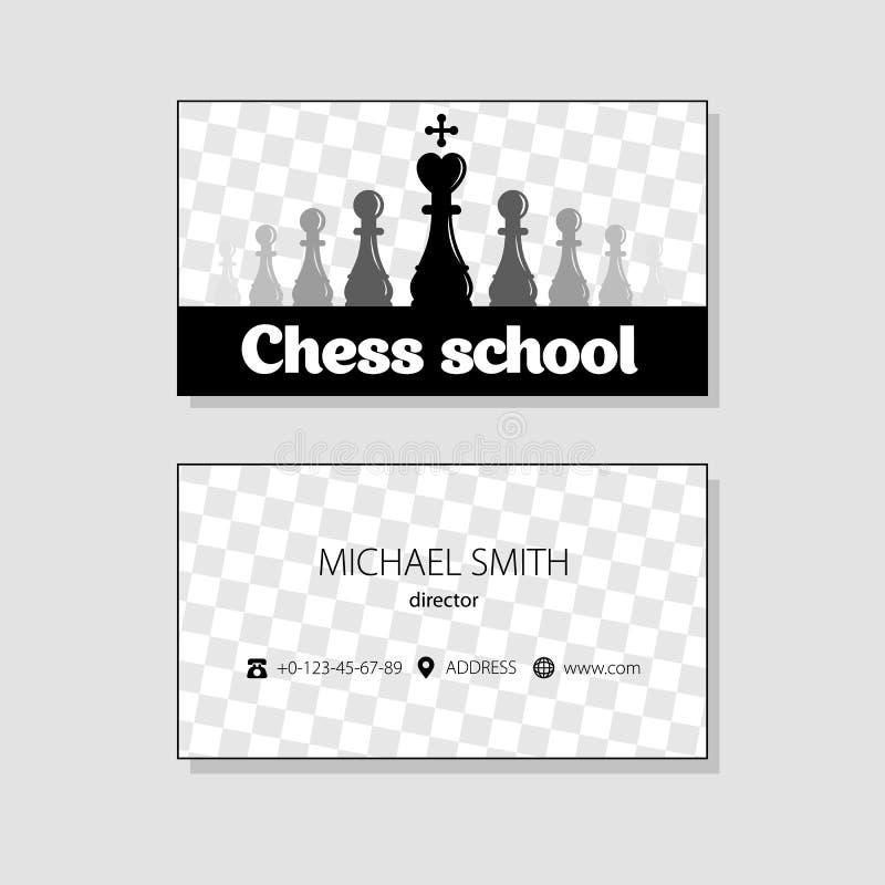 最佳的名片原来的打印准备好的模板向量 棋象 投反对票 皇族释放例证
