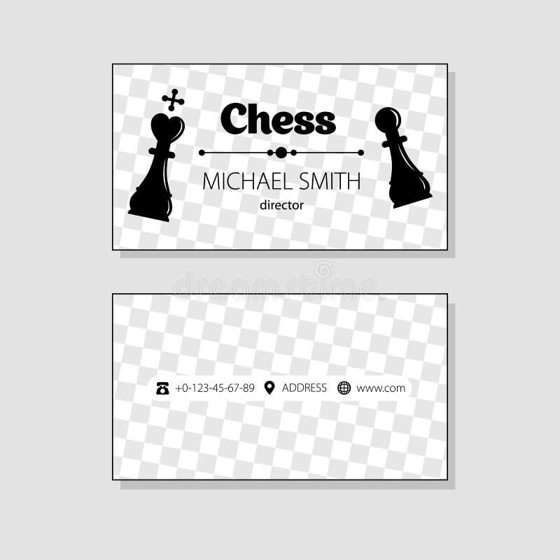 最佳的名片原来的打印准备好的模板向量 棋象 投反对票 库存例证